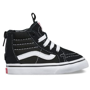 Vans Sk8-Hi Zip Toddler Skate Shoes - Black/True White