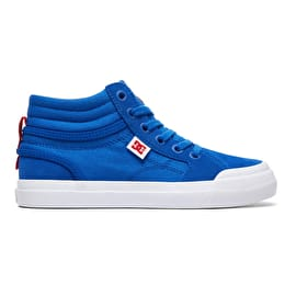 DC Evan Hi RE6 Skate Shoes - Royal/True Red
