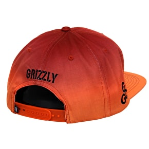 Grizzly 8PM Sublimated Snapback Cap - Orange