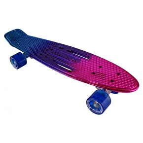 Karnage Chrome Retro Skateboard - Blue/Purple/Pink
