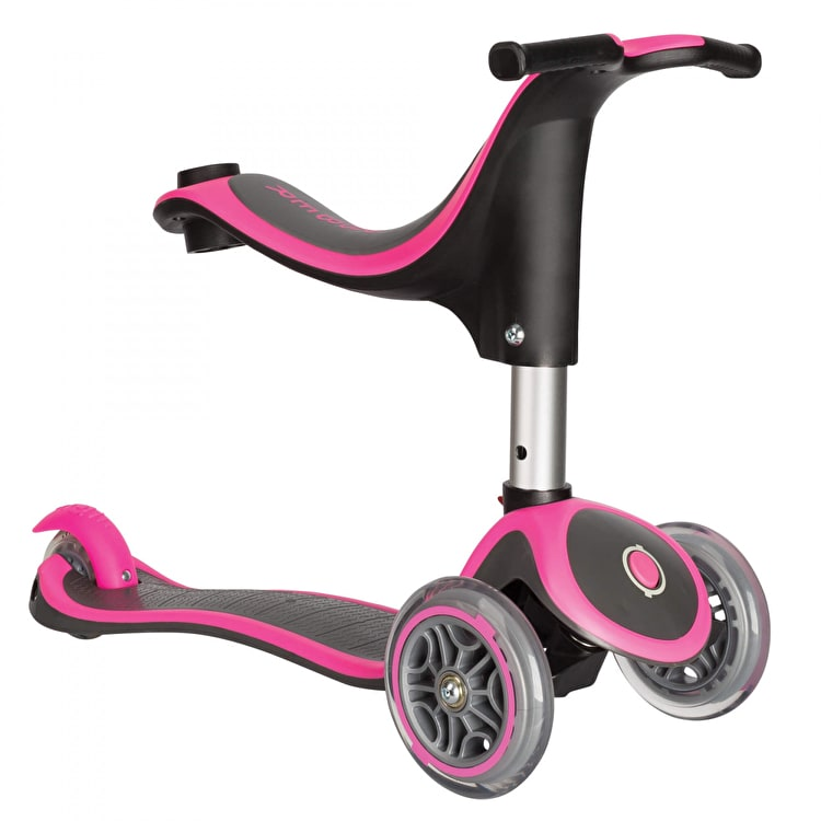Globber My Free Evo 4-In-1 Plus Complete Scooter - Neon Pink