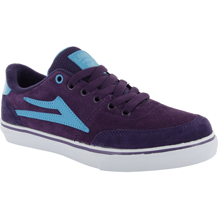 Lakai Encino Kids Skate Shoes - Purple Suede