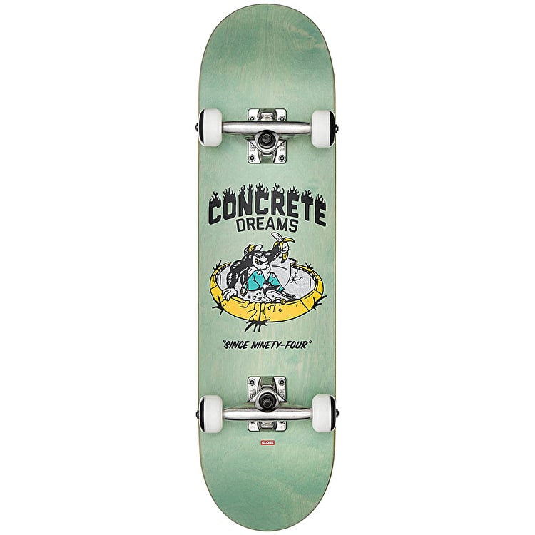 "Globe Concrete Dreams Complete Skateboard 7.6"" - Breeze Green"