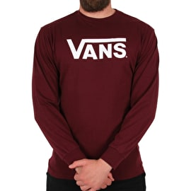 Vans Classic Long Sleeve T-Shirt - Burgundy/White