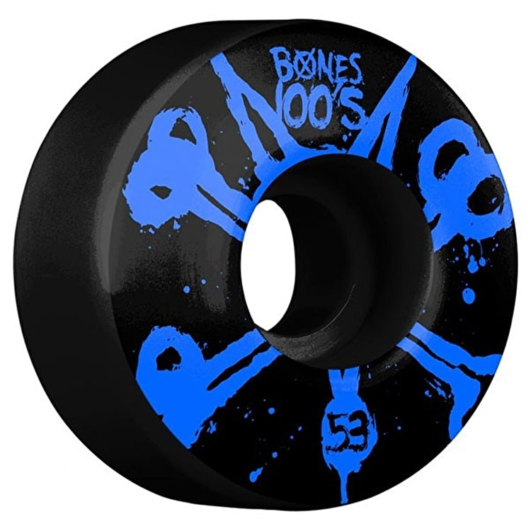 Bones OG 100'S #10 V4 Skateboard Wheels - Black 53mm (Pack of 4)
