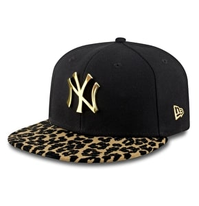 New Era Women's NY Yankees Snapback Cap - Black/Leopard Print