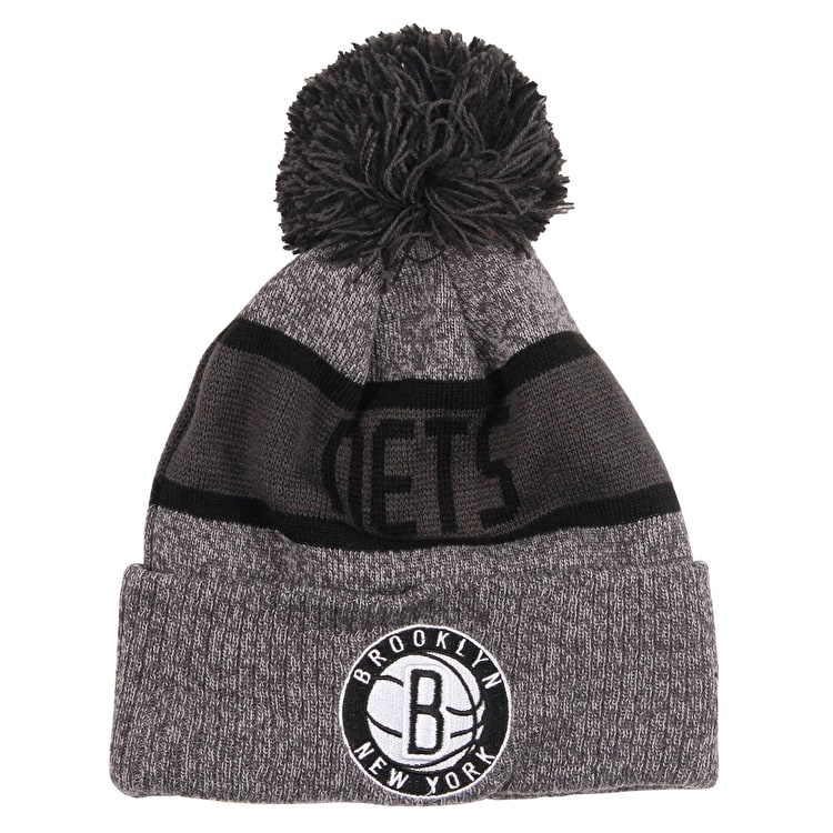 huge discount 3ce88 08471 spain new era nba marl knit beanie brooklyn nets 055a6 4f148