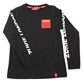 Zukie Box Logo Long Sleeve T-Shirt - Black