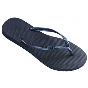Havaianas Ladies Slim Flip Flops - Navy Blue
