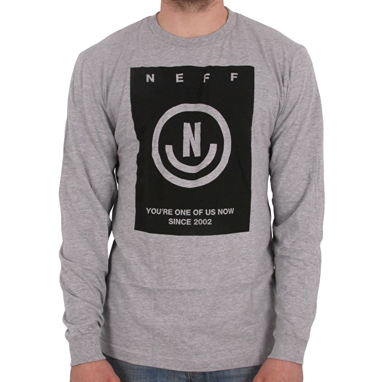 Neff Viktor Long Sleeve T shirt - Athletic Heather