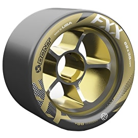 Bont Fxx Hub 62mm Roller Derby Wheels - Black / Gold 93a (8pk)