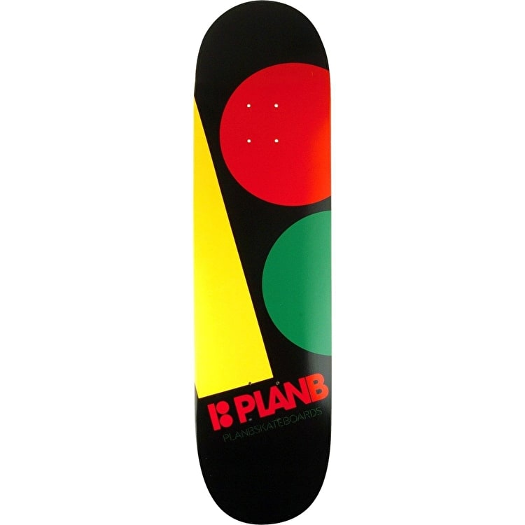 Plan B Team Massive Skateboard Deck - Rasta 8.375""