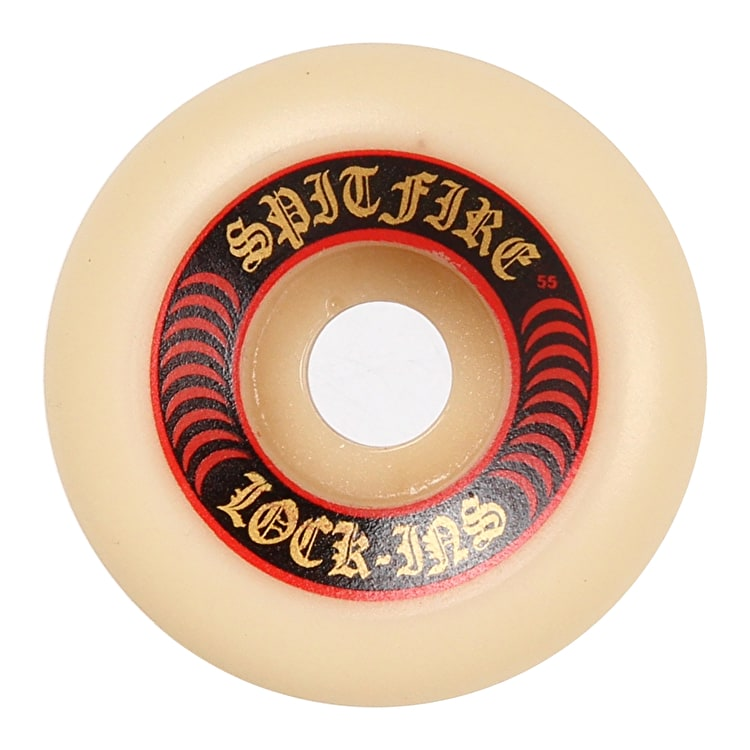 Spitfire Formula Four Lock Ins 101D Skateboard Wheels - Red 55mm (Pack of 4)