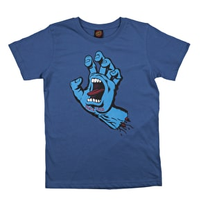 Santa Cruz Screaming Hand Kids T-Shirt - Federal Blue