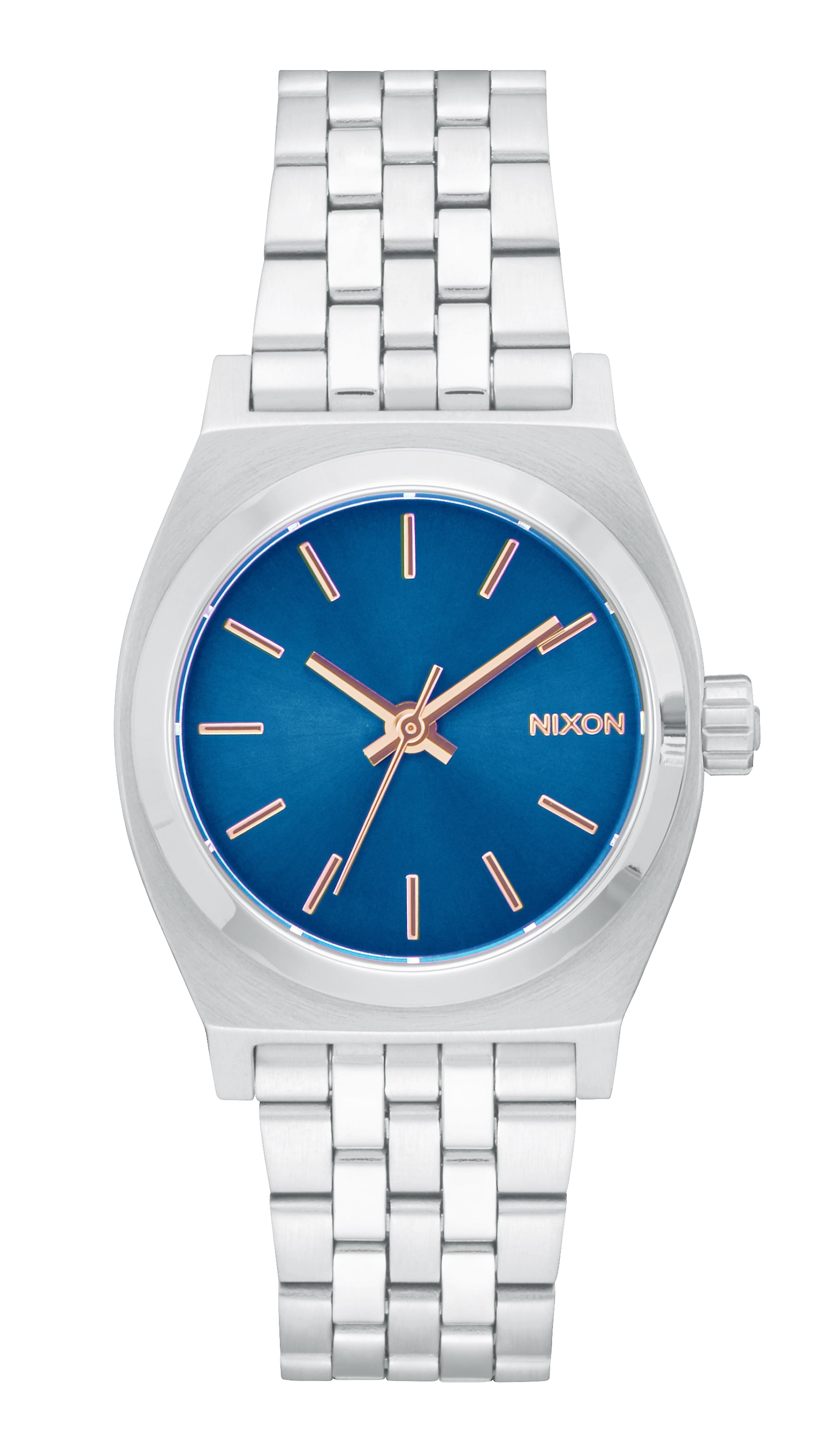 nixon s and medium watches en all silver time teller women us premium