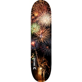 Mini Logo Small Bomb Skateboard Deck - Fireworks