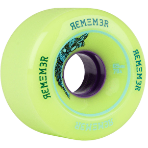 Remember Lil' Hoot 65mm Longboard Wheels - Green