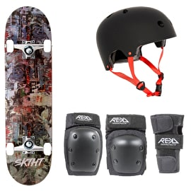SKTHT Natural Stained/Graffiti Skateboard Bundle