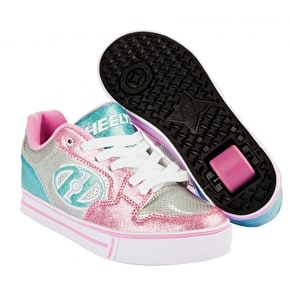 B-Stock Heelys Motion Plus - Silver/Light Pink/Light Blue - UK 1 (Small tear)