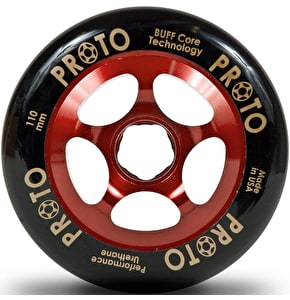 Proto 110mm Gripper Wheel - Black on Red