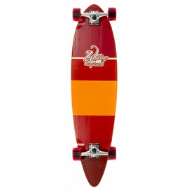 Voltage Stubby Pintail Complete Longboard - Red 38