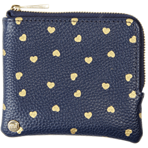 Mi-Pac Coin Holder - Hearts Navy/Gold