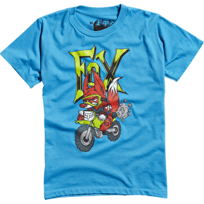 Fox Braaah Kids T-Shirt - Electric Blue