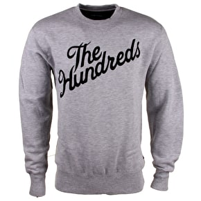 The Hundreds Forever Slant Crewneck Sweatshirt - Atheletic Heather