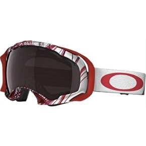Oakley Splice Snow Goggles - Topography Red/Black Rose