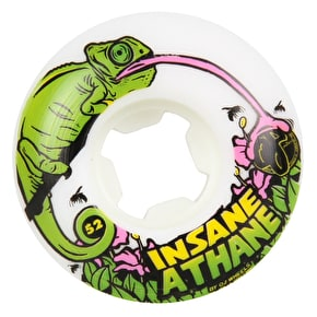 OJ EZ Edge Lizards Insaneathane Skateboard Wheels - White 52mm 101a