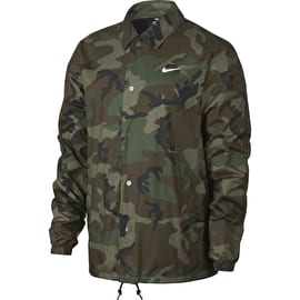 Nike SB Shield Camo Coaches Jacket - Medium Olive/White