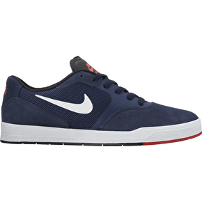 Nike SB Paul Rodriguez 9 CS Skate Shoes - Obsidian/White/Black/Max Orange