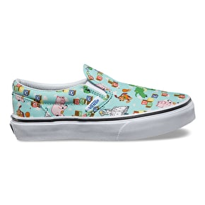 Vans x Toy Story Slip-On Kids Shoes - Andy's Toys/Blue Tint