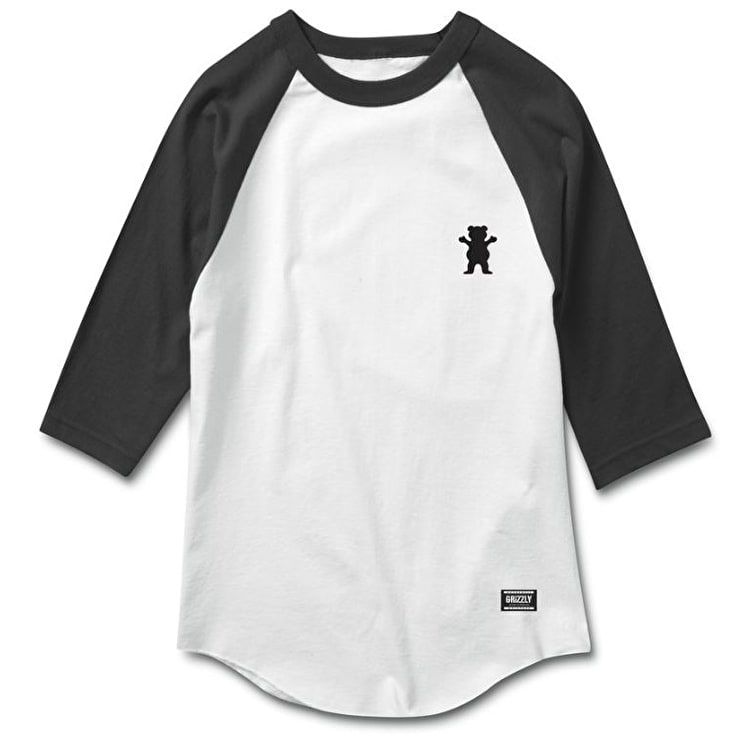 Grizzly OG Bear Two Tone Raglan - White