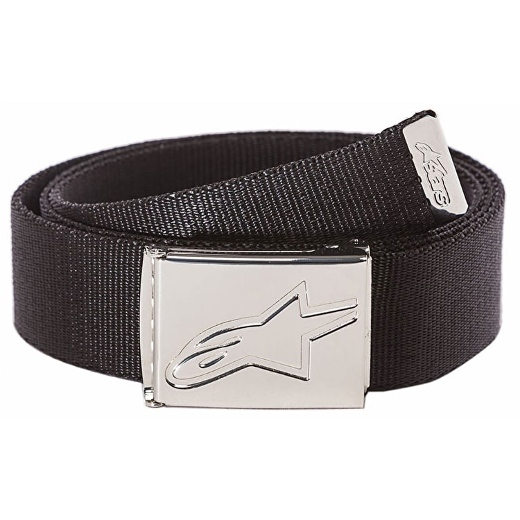 Alpinestars Friction Web Belt - Black/Chrome