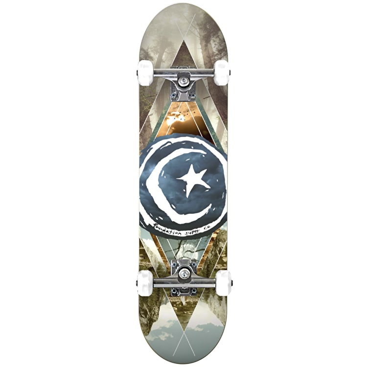 Foundation Star & Moon Complete Skateboard - Geometry 8.125""