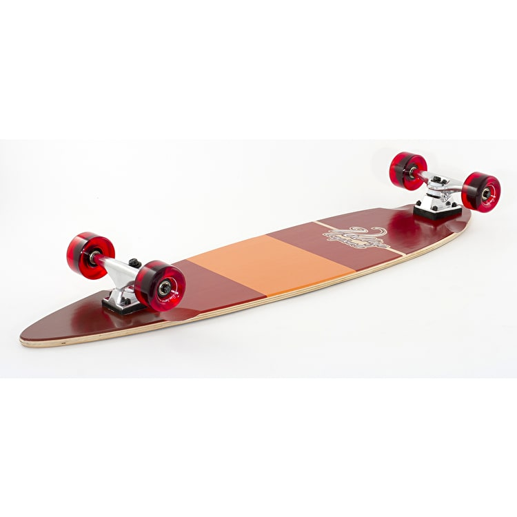 """Voltage Stubby Pintail Complete Longboard - Red 38"""""""