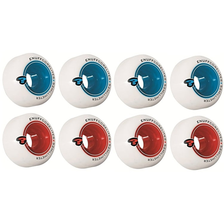 Enuff Corelite White Skateboard Wheels (Pack of 4)