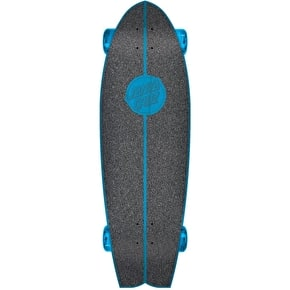 Santa Cruz Land Shark Screaming Hand Complete Cruiser - Blue 27.7