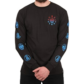 Rebel8 F**k Face Long Sleeve T shirt - Black