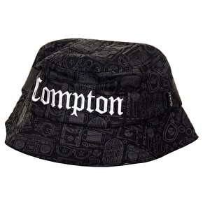 Gold Compton Bucket Hat - Black