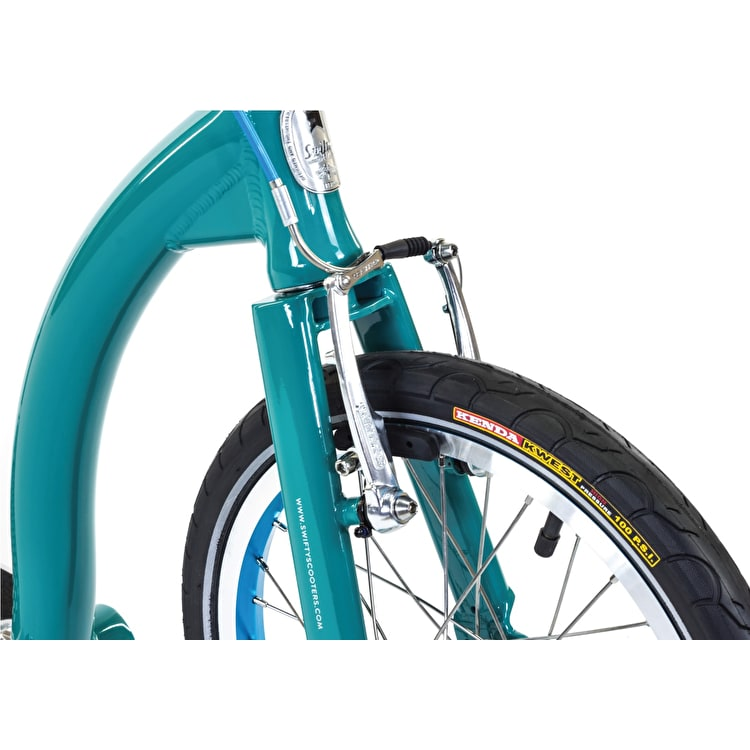 SwiftyONE MK3 Folding Commuter Scooter - Aqua Green/Silver