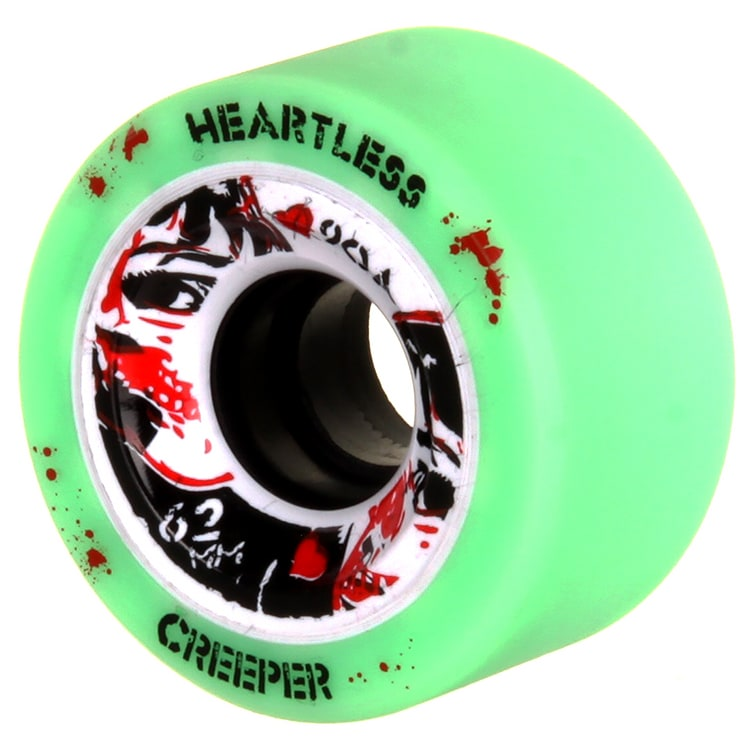 Heartless 62mm Roller Derby Wheels - Creeper 90A (4pk)