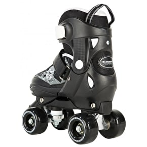 Rookie Kids' Adjustable Quad Skates - Pulse Black/White