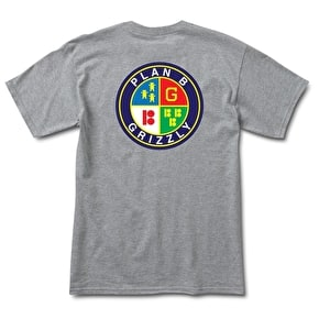 Grizzly Seal Of Approval T-Shirt - Heather Grey