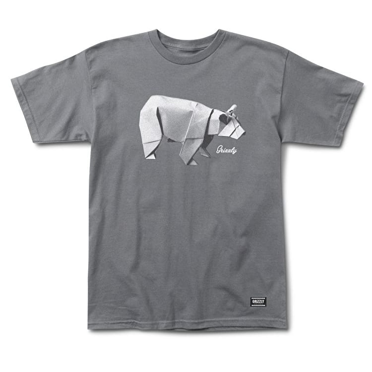 Grizzly Origami T-Shirt - Grey