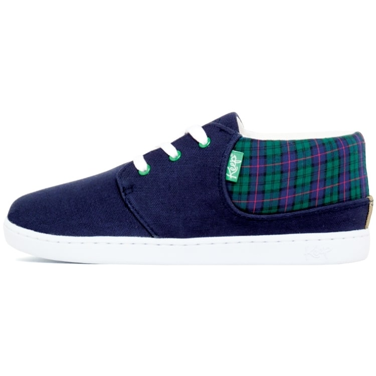 Keep Ramos Shoes Navy Scottish Plaid