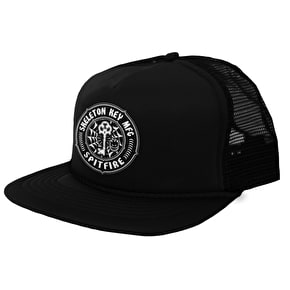 Spitfire x Skeleton Key MFG Trucker Cap - Black