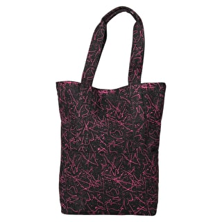 Mi-Pac Denim Squiggle Tote Bag - Black/Pink