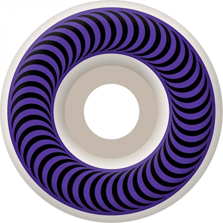 Spitfire Classic Skateboard Wheels - White/Purple 58mm (Pack of 4)